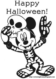 DISNEY COLORING PAGE...with Mickey Mouse for Halloween