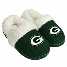 96eae13df59 Green Packers Women s Team Color Moccasin Slippers at the Packers Pro Shop