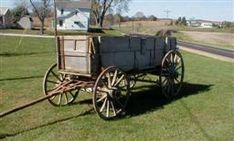 Antique John Deere Studebaker IH Wooden wheel Farm Wagons for Sale Wooden Wagon, Wooden Wheel, Old West Town, Wagons For Sale, Horse Drawn Wagon, Old Wagons, The Past, Central Illinois, Horses