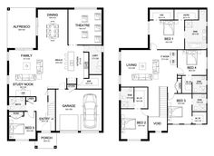 Dynasty 42 - Double Level - Floorplan by Kurmond Homes - New Home Builders Sydney NSW