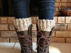 Chunky Oatmeal Wool Boot Socks - Oatmeal Boot Socks Womens Wool - Boot Cuffs Wool Crochet -  Boot Socks Lamb's Wool - Womens Crochet Socks on Etsy, $22.95