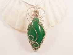 Handmade, Green, Dragon Vein Agate, Necklace