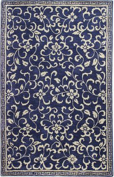 Chic hand tufted rugs for sale, at Hadinger Area Rug Gallery! (Nationwide shipping available.) A18Z R129-HG325 Navy