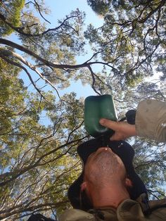 Myself Drinking From A Nalgene Oasis Canteen