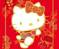 hello kitty happy lunar new year
