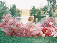 Float Away to a Pink Wedding Paradise for the Modern Bride - Green Wedding Shoes Anemone Wedding, Wedding Bouquets, Wedding Flowers, Wedding Dresses, Green Wedding Shoes, Wedding Colors, Garden Wedding, Summer Wedding, Wedding Table