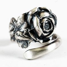 Tree Rose Spoon Ring pattern by Reed & Barton by Spoonier on Etsy, $57.00