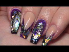 Nails tutorial acrylic heart design #notpolish - YouTube