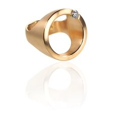 German Jewels – Diamond Circle Ring – Gold Bling | Small for Big