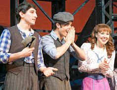 Liana Hunt, Corey Cott and Ben in Newsies <--- I miss them. I miss this show. I need the tour. Broadway Theatre, Musical Theatre, Broadway Shows, Ben Fankhauser, Evil Stepmother, Bonnie N Clyde, Dear Evan Hansen, Songs To Sing, Cute Disney