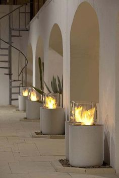 Not a fireplace, but great way to add fire to an outdoor space. Modern Fireplaces | modern fireplace design gallery