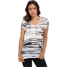Calvin Klein Jeans Short Sleeve Downtown Tee Women's T Shirt, White ($25) ❤ liked on Polyvore featuring tops, t-shirts, white, lightweight t shirts, short sleeve t shirt, white t shirt, white stripes t shirt and short sleeve tops