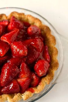 Fresh Strawberry Pie By Brown Eyed Baker