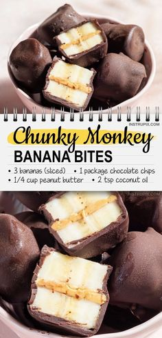 Quick and Easy Snack Ideas For Kids (healthy & fun!) Quick and Easy Snack Ideas For Kids (healthy & fun!),Kids Snack Ideas Quick and Easy Snack Ideas For Kids (healthy & fun! Bon Dessert, Snacks Saludables, Good Food, Yummy Food, Delicious Recipes, Banana Bites, Peanuts, Food To Make, Easy Foods To Make