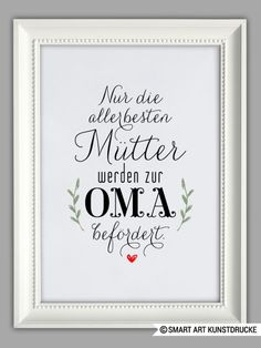 "Originaldruck – ""MAMA und OMA"" Kunstdruck, Muttertag … – ein Designerstück vo… Original print – ""MAMA and OMA"" Art Print, Mother's Day … – a unique product by Smart-Art-Art on DaWanda Crafts For Teens To Make, Crafts To Sell, Easy Crafts, Diy And Crafts, Diy Mothers Day Gifts, Diy Gifts, Unique Gifts, Dollar Store Crafts, Dollar Stores"