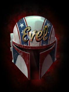 Evel Fett helmet