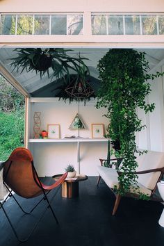 Take a look at how a basic shed gets transformed into a relaxing, modern backyard retreat.