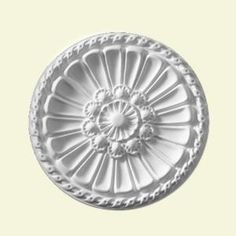 Fypon Belmont 14 in. Smooth Surface Ceiling Medallion (1-Piece)-CM14BL at The Home Depot $24,49