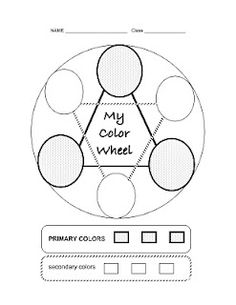 Lovely simple color wheel for littles. Primary and secondary only.