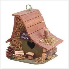 Cabane pour oiseaux style Cabane d'Amour