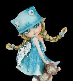 Elfen Figur mit Teddy - Blue Monday | Elfen | Figuren | Dekoration | Gothic-Shop | www.figuren-shop.de