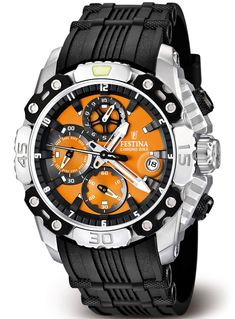 Festina Men's Tour de France Black Rubber Quartz Watch with Black Dial Dream Watches, Luxury Watches, Cool Watches, Watches For Men, Wrist Watches, Men's Watches, Sporty Watch, Mens Clothing Styles, Watch Brands