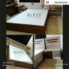 #Repost @bleztinterior (@get_repost)  ・・・  .  Whatsapp B.L.E.Z.T :   081 660 6879 ☺ .  .  www.blezt.com  .  #interiorjogja #kitchensetjogja   #interior #jasainterior  #design #hpl #rumah #jogja #perumahan #sorogenen #kamar #lemari #furniture #bedroom
