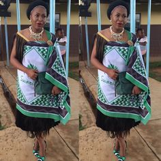 Swazi traditional Attire African Print Dress Designs, African Print Dresses, African Design, African Fashion Dresses, African Dress, African Prints, Traditional Wedding Attire, Traditional Fashion, Traditional Outfits