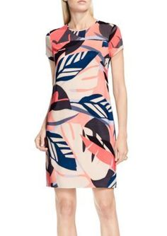 Vince Camuto Coral Passion Modern Tropics Dress