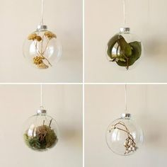 These fillable glass or acrylic ornaments are readily available at craft stores right now as they're gearing up for the holidays, but a nature-themed constellation would look good regardless of the season!