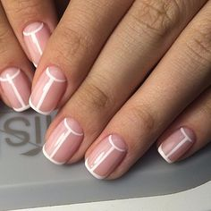 Having short nails is extremely practical. The problem is so many nail art and manicure designs that you'll find online Manicure Gel, Diy Nails, Love Nails, Pretty Nails, Nailed It, Nagellack Trends, Minimalist Nails, Starter Set, Heart Nails