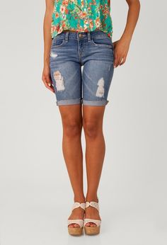 modest ripped bermuda shorts - Google Search