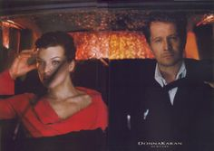 Milla Jovovich and Gary Oldman for Donna Karan New York
