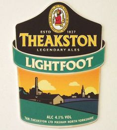 THEAKSTON BREWERY'S LIGHTFOOT - Lightfoot is named after a brewery in Masham which Theakstons took over in 1919. Lightfoot is a refreshing golden pale ale, brewed using prime English Barley and wheat, continental hops, Masham yeast and water from the Yorkshire Dales.