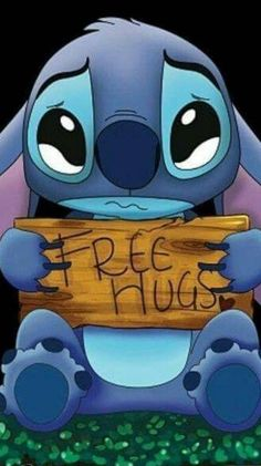 From Lilo and stitch free hugs Cute Emoji Wallpaper, Cartoon Wallpaper Iphone, Disney Phone Wallpaper, Sad Wallpaper, Iphone Background Wallpaper, Cute Cartoon Wallpapers, Stitch Tumblr, Lelo And Stitch, Lilo And Stitch Quotes