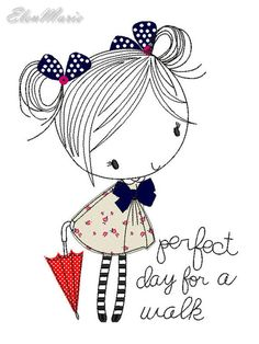 Applique Perfect day for a walk - machine embroidery design,.- Applique Perfect day for a walk – machine embroidery design, applique, embroidery applique - Embroidery Applique, Machine Embroidery Designs, Embroidery Patterns, Stick Figures, Fabric Scraps, Doodle Art, Easy Drawings, Cute Art, Coloring Pages
