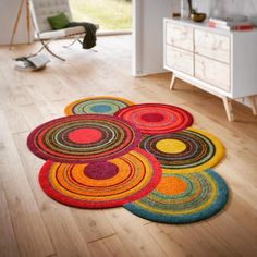 Pattern in PDF of Trapillo carpet in Crochet. English and Spanish Carpet Crochet, Crochet Home, Crochet Crafts, Crochet Projects, Beige Carpet, Diy Carpet, Rugs On Carpet, Carpets, Crochet Round
