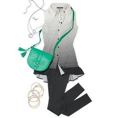 Avon's Ombre Polka Dot Swing Top is a sleeveless polka-dot button-down top that features princess seams. Avon Fashion, New Fashion, Fashion Trends, Avon Clothing, Swing Top, Signature Collection, New Wardrobe, Beachwear, Avon Products