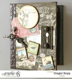 Graphic 45 Come Away With Me Mini Album by Ginger Ropp #graphic45