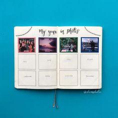 #bulletjournal ideas. Polaroid. My year in photos #bulletjournaling