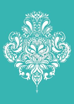 STENCIL (reusable) for Shabby Chic projects: Vintage Doodle Damask Wallpaper Pattern Made of 5 mil microns) durable and elastic Mylar DIMENSIONS SMALL ---size of sheet: 297 x x in) ---actual size of graphics: 215 x 180 mm x 7 in) MEDIUM ---size of Damask Stencil, Damask Wallpaper, Stencil Patterns, Stencil Art, Stencil Designs, Pattern Wallpaper, Bird Stencil, Vintage Wallpaper, Stenciling