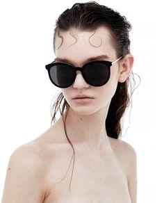 a2f01e2bb50d8 GENTLE MONSTER - VANILLA ROAD 01 GOLD Cat Eye Sunglasses
