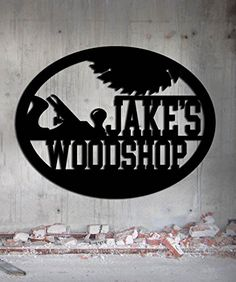Woodshop Woodworker - Custom Metal Shop Sign - Metal Wall Art Great Gift Made In USA Carpentry Wood Worker Steel Sign * You can get additional details at the image link. (Amazon affiliate link)