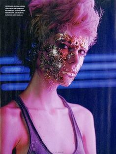 Decadence in the Disco - photographer Richard Bush, makeup val garland for ID mag -  LoVe this!!