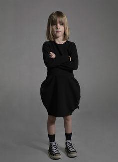 Nununu Balloon Dress in Black - FINAL SALE