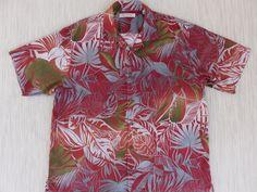 ea5b0b82 TOMMY BAHAMA Shirt Hawaiian Shirt Men Palm Fronds Aloha Shirt Tropical Rain  Forest Print 100% Silk Camp - XL - Oahu Lew's Shirt Shack