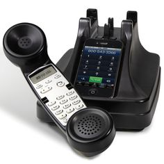 The iPhone Cordless Handset - Hammacher Schlemmer - Wish they had this for Android