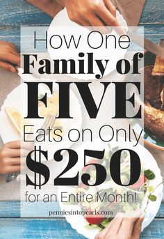 Only $250 monthly grocery budget for a family of five! Here is a look at exactly what this family spent on groceries for an entire month, plus, how they did their meal planning on a budget. AND she shows you how to meal plan on a budget yourself using a FREE Meal Planning on a Budget Toolkit Printables!