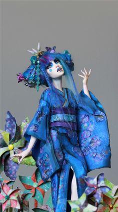 Pinwheel Garden Geisha OOAK by Nicole West | eBay