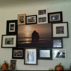 Photo Collage over our fireplace